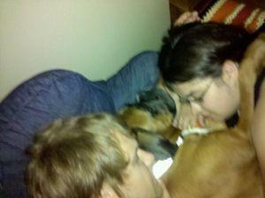 family snuggle